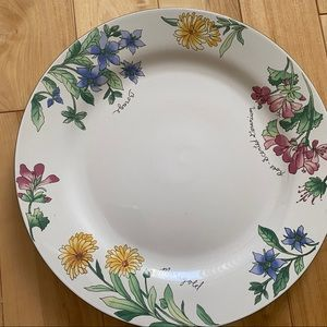 Vintage majesticware flower plate beautiful 1997